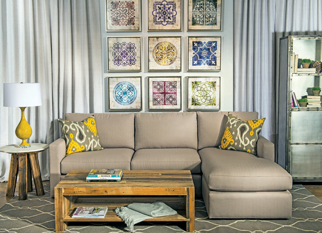 Moroccan modern eclectic living room by high fashion - Moroccan living room furniture for sale ...