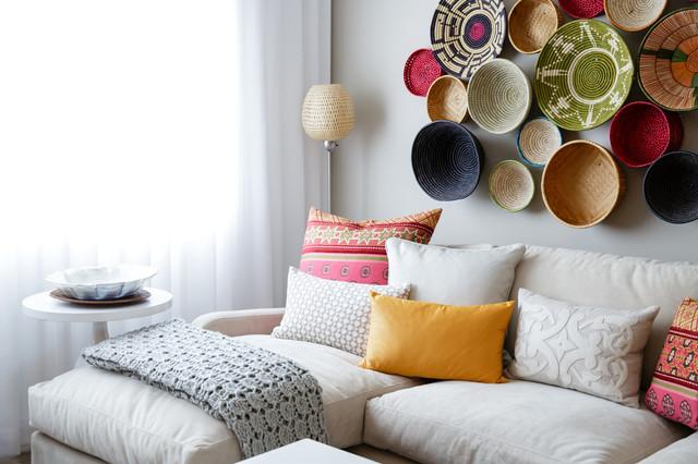 Moroccan Modern Mediterranean Living Room Calgary by Natalie