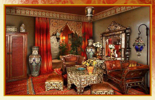Moroccan style asian living room