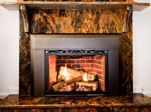 Morocco Granite Fireplace Surround - Modern - Living Room - dc metro ...