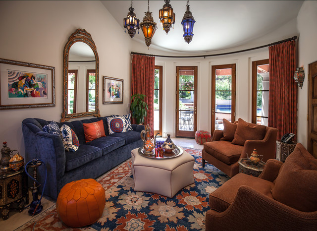Morocco Style Mediterranean Living Room Los Angeles