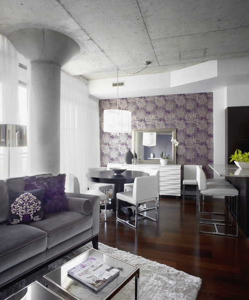 Open floor plan and inspired decor liberate a condo
