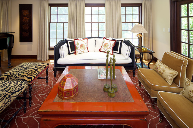 Morristown new jersey traditional eclectic living room for Traditional eclectic living rooms