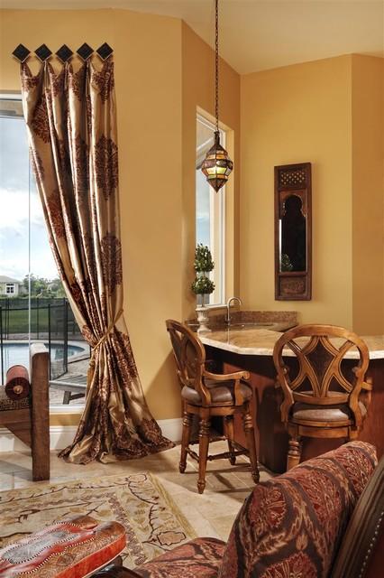 Morroccan Living Room mediterranean-living-room