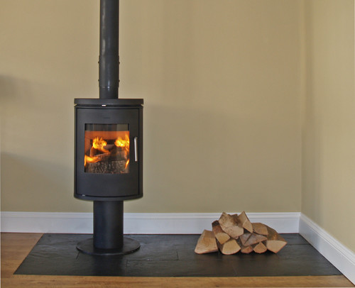 Morso 6140 installation with slate tiled hearth