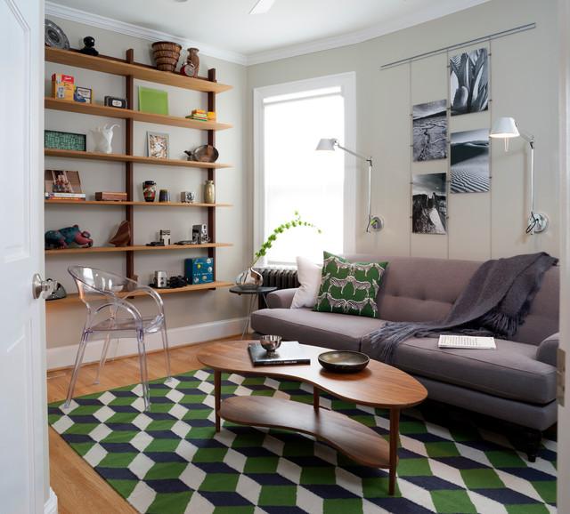 Mount Pleasant, Washington DC Residence - Midcentury - Living Room - dc metro - by Design Milieu