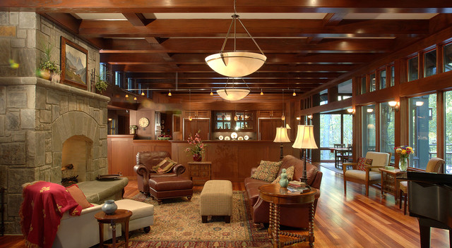 Mountain and Brook Home - Living Room traditional-living-room