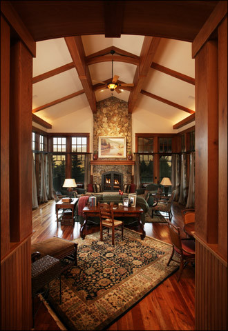 Design Ideas For A Traditional Living Room In Denver.