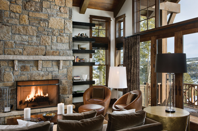 Mountain chic rustic living room other metro by for Rustic chic living room designs