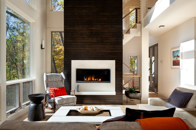 Mountain Contemporary In Western NC Contemporary Living Room Other Metr