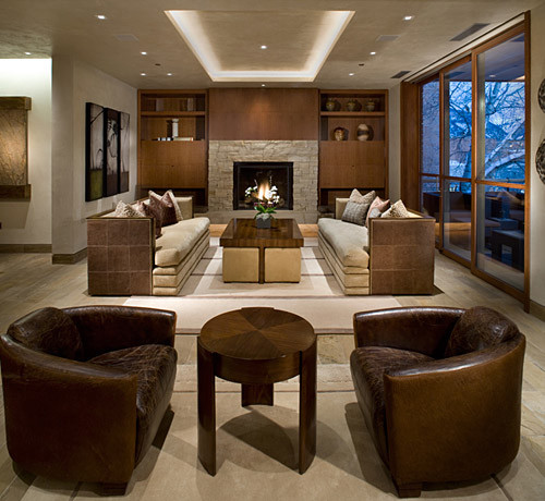 Living Room Lighting Designs: Mountain Contemporary Living Room