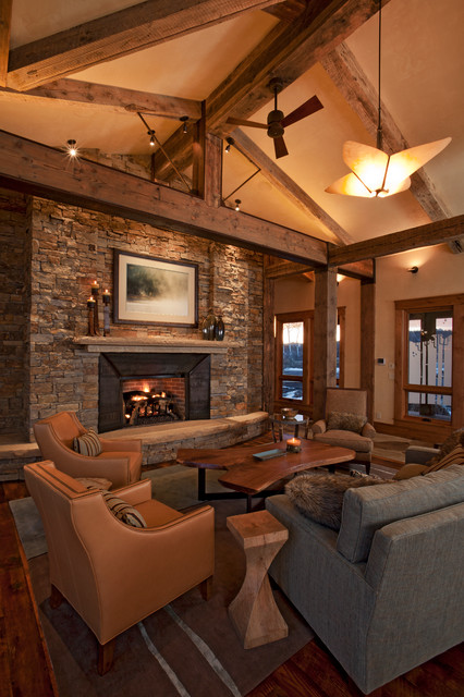Living Room Denver : Mountain Modern Living Room - Contemporary - Living Room ...