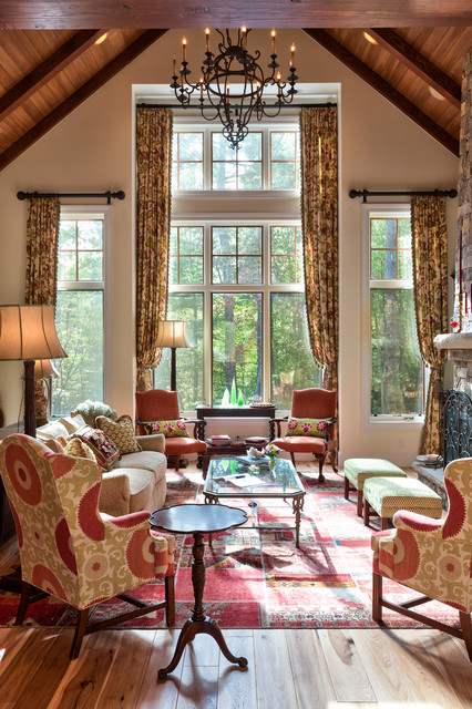 Room of the day rustic meets eclectic in a mountain cottage for Family room and living room difference