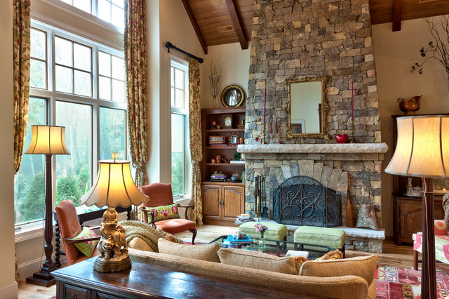 Mountain Cottage traditional-living-room