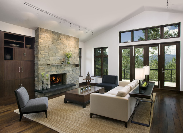 Mountain Home Living Room - Contemporary - Living Room - San ...