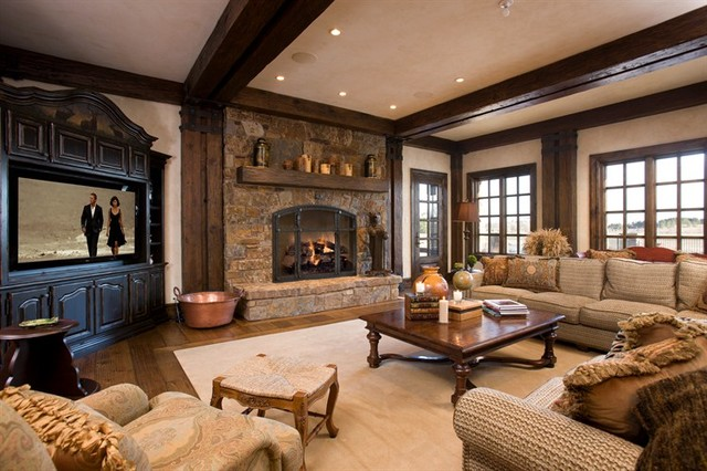 Mountain House Living Space Traditional Living Room