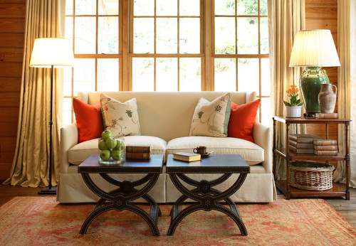 Rustic Living Room by Atlanta Interior Designers & Decorators Robert Brown Interior Design