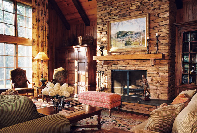 Mountain Living Room Traditional Living Room By