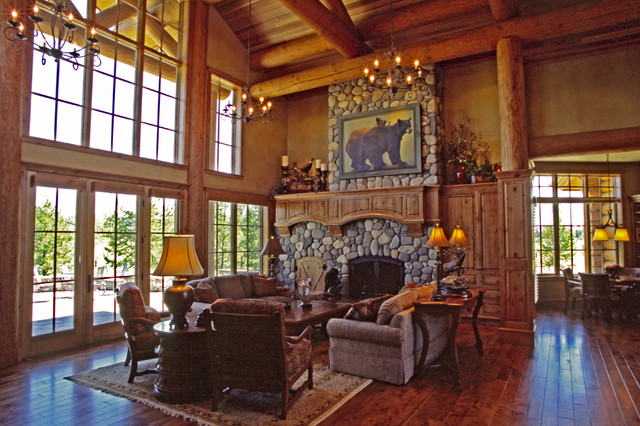 Mountain Lodge - Eclectic - Living Room - portland - by Cherie Myrick Interiors
