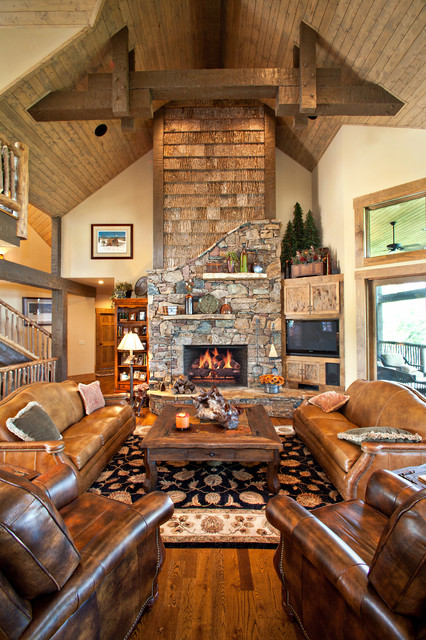Mountain Lodge rustic-living-room