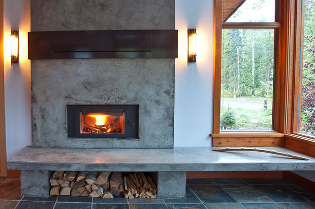 Mountain Modern Home Fireplace Renovation