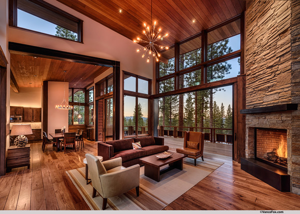 Mountain Modern Lodge Transitional Living