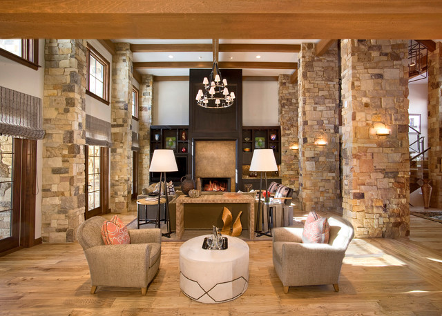 Mountain Modern Rustic Living Room Other By W