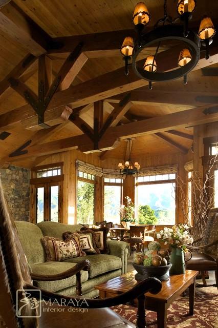 Mountain ranch living room farmhouse living room for Ranch living room ideas