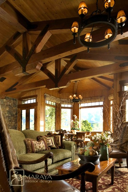 Mountain Ranch Living Room Farmhouse Living Room