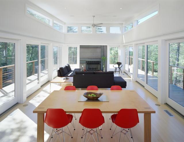 Mountain Retreat - communal space modern-living-room