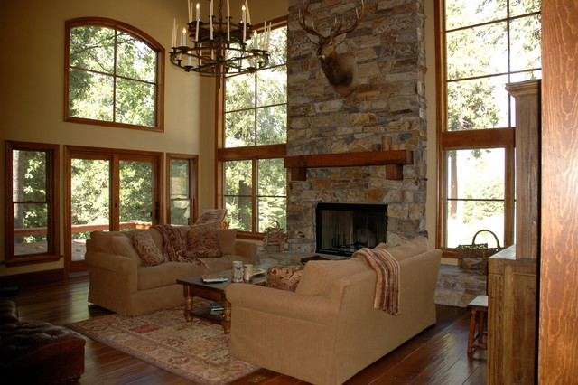 Mountain Retreat - Shaver Lake in the Sierra's traditional-living-room