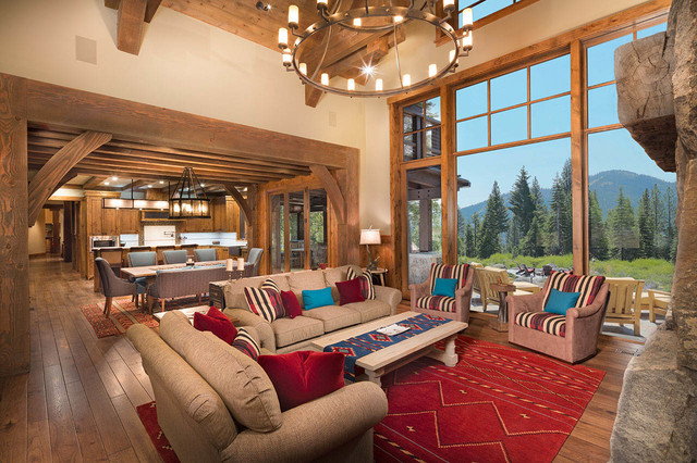 Mountain Solace Martis Camp Rustic Living Room