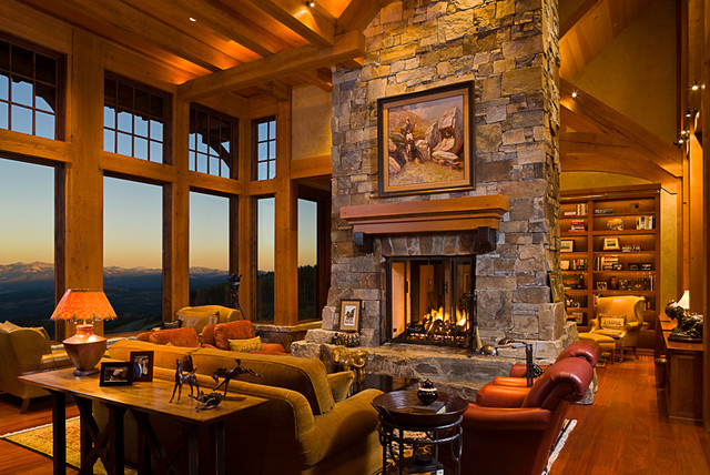 Mountain Style Eclectic Living Room Other Metro By