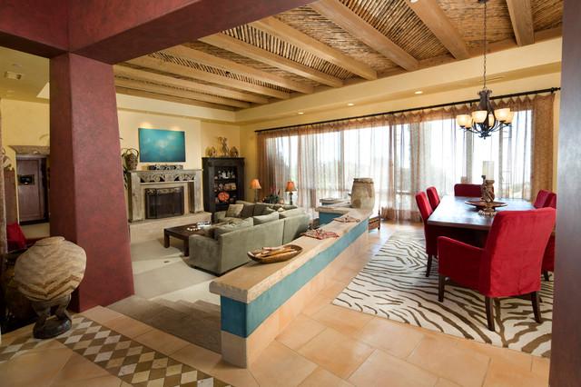 Mountain Top Estate Living Room southwestern-living-room