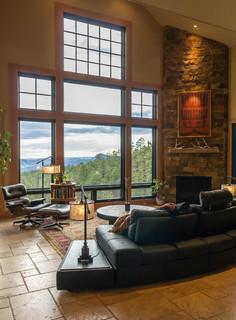 Mountain Zen Rustic Living Room Albuquerque By