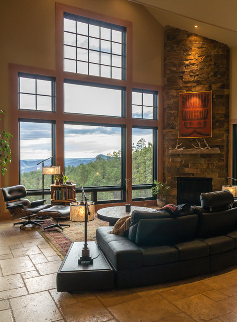 Mountain zen rustic living room albuquerque by for Living room ideas zen