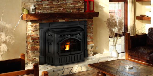 Mt vernon e2 pellet fireplace insert contemporary for Contemporary wood fireplace insert
