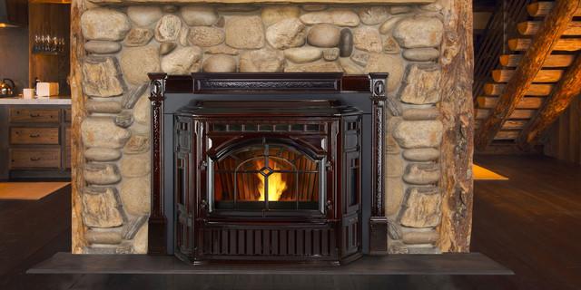 Mt vernon e2 pellet fireplace insert contemporary living room seattle by quadra fire - Contemporary fireplace insert for a warm living room ...