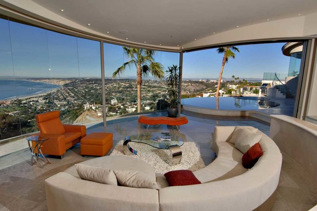 multi million dollar home in la jolla contemporary living room