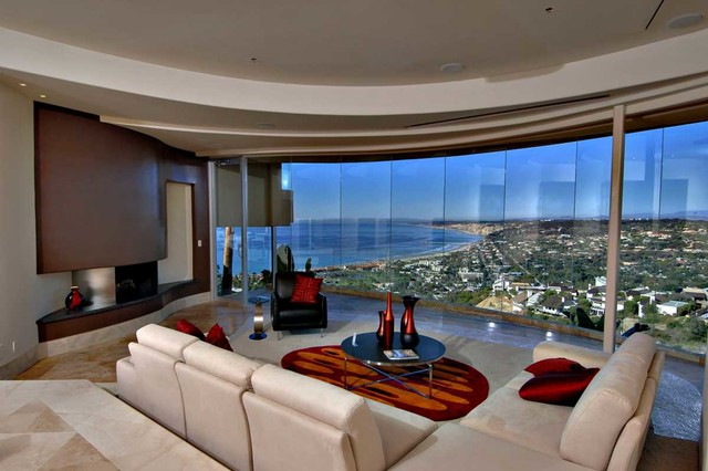 Kitchen table window bench - Multi Million Dollar Home In La Jolla Contemporary Living Room