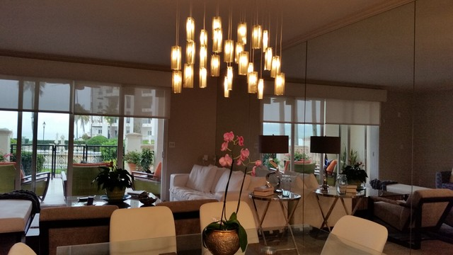 Multi pendant lighting dining modern living room miami by galilee lighting - Modern pendant lighting for dining room ...