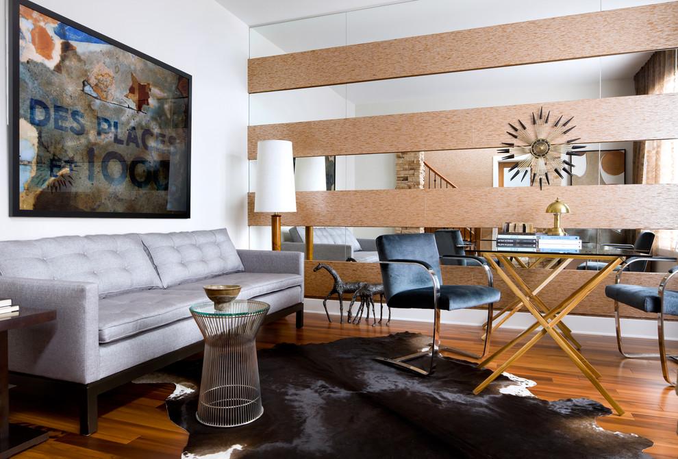 Living room - mid-sized modern enclosed living room idea in Toronto