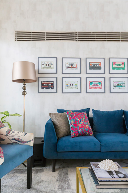 Decorate The Wall Behind Sofa