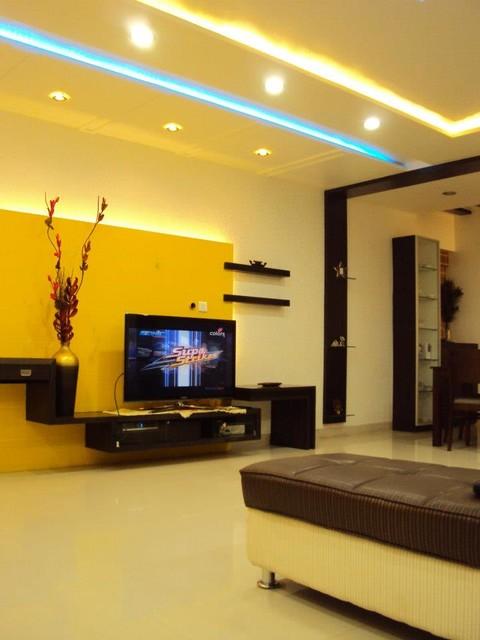 Mumbai contemporary living room pune by destined for Interior design ideas living room mumbai
