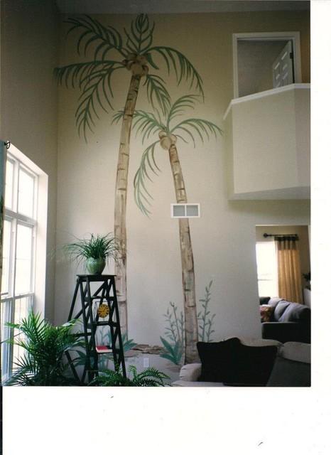 Murals tropical-living-room
