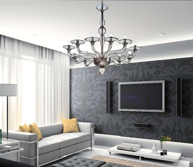 Murano glass lighting and chandeliers location shotsd for Living room chandelier