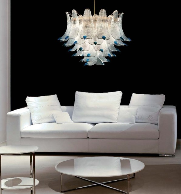 Murano Glass Lighting and Chandeliers - Location Shotsd modern-living-room