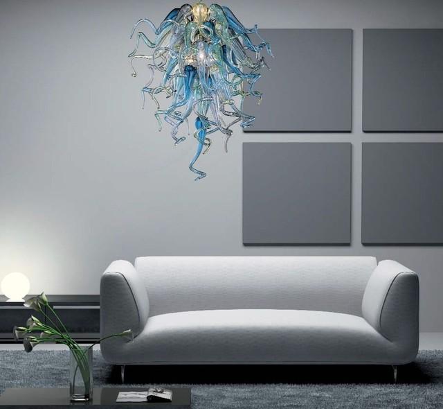 Murano Glass Lighting And Chandeliers Location Shotsd Modern Living Room
