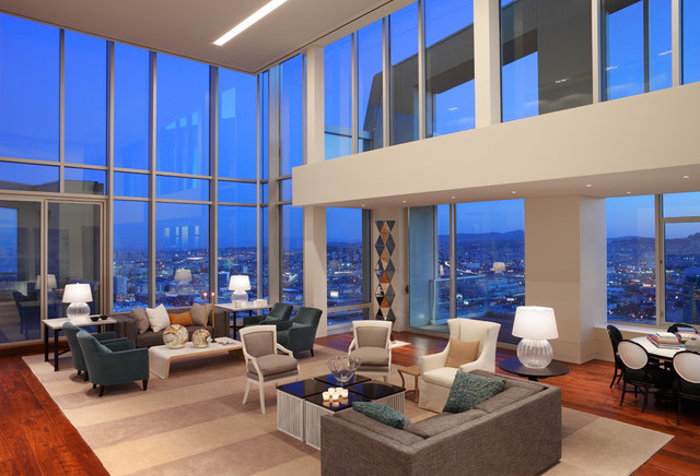 Museum Tower Penthouse Contemporary Living Room San