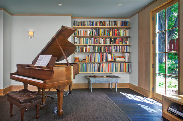 Music room for piano modern home office minneapolis for Modern house music